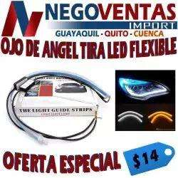TIRA LED FLEXIBLE OJO DE ANGEL PARA FARO DE CARRO