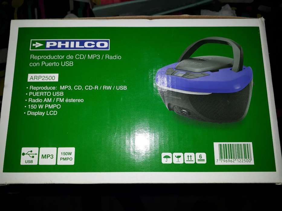 Reproductor de Cd Philco Arp2500 Mp3 Usb
