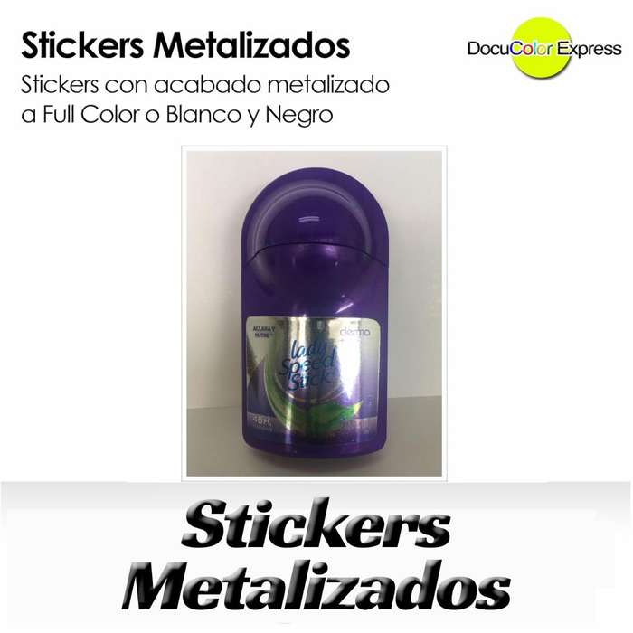 Sticker Plateado