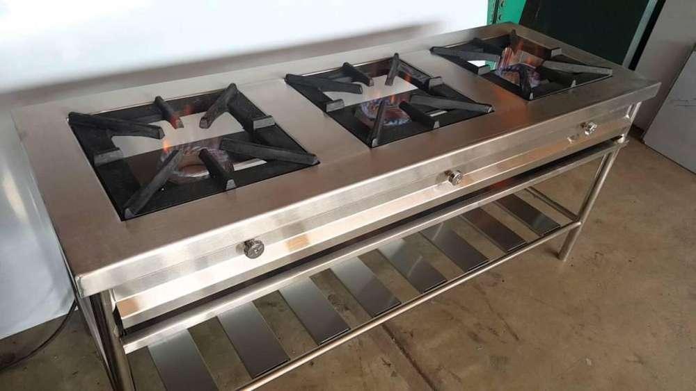 CocinaS industriales de Acero INOX NuevaS