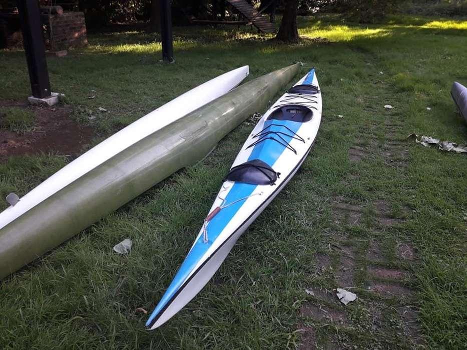 Kayak Single Travesía Con Remo