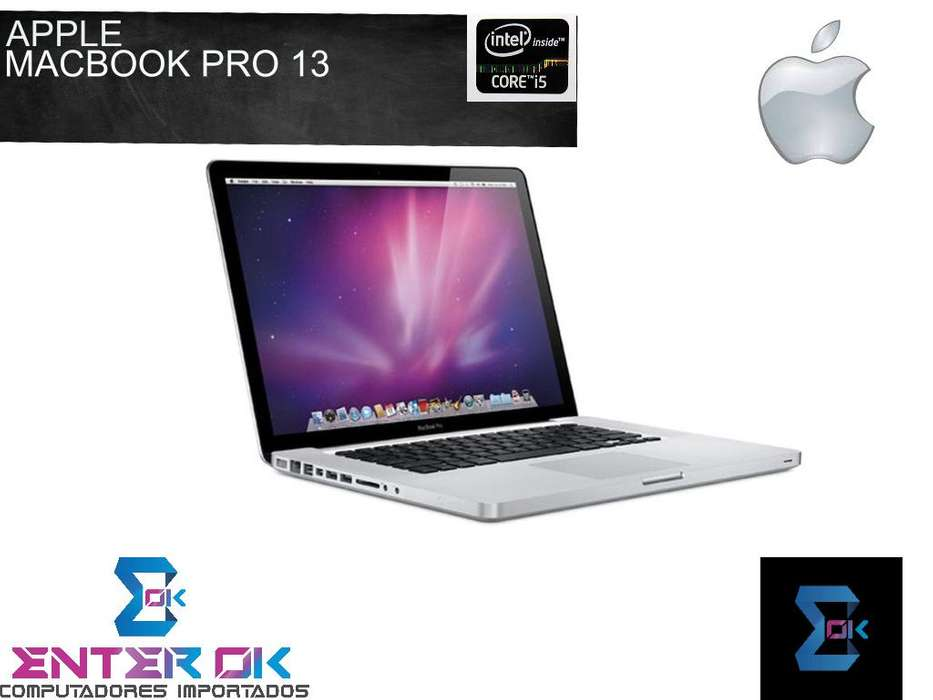 MacBook Pro 13, core i5, 500GB HDD, 4GB MEMORIA RAM