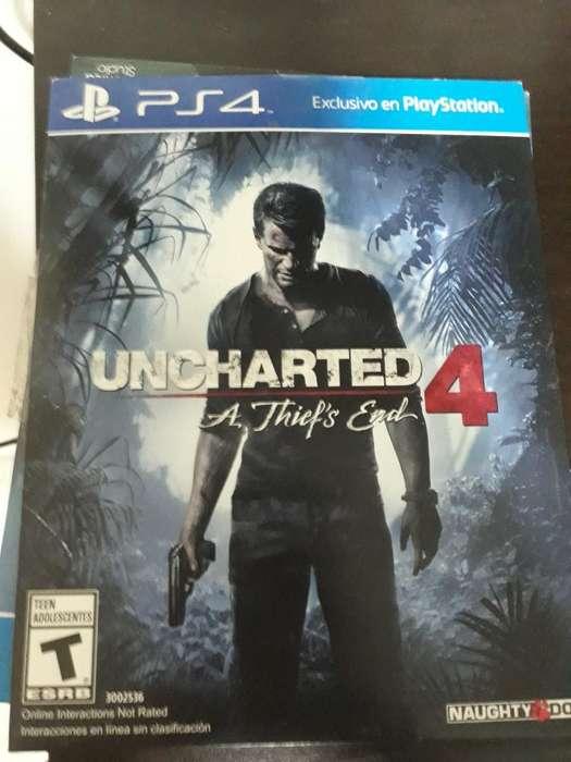 Vendo Uncharted 4 con Muy Poco Uso