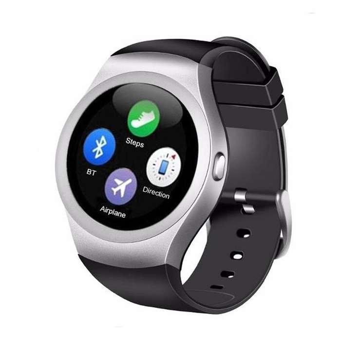 Reloj Inteligente Y1 Smartwatch Color Plateado Negro