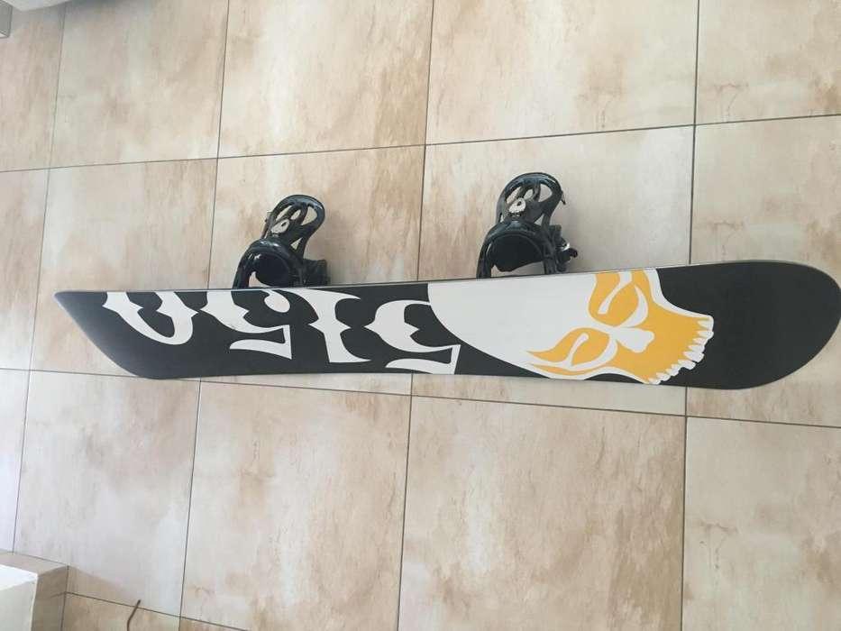 Equipo snowboard completo tabla botas y funda