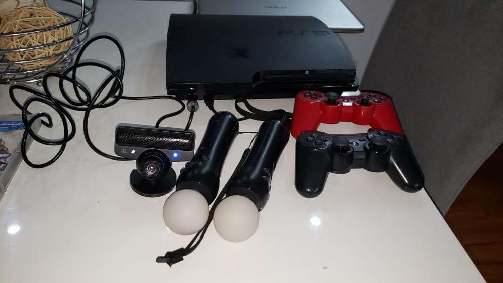 Play Station 3 Ps3 Dos Controles Y 2 Mov