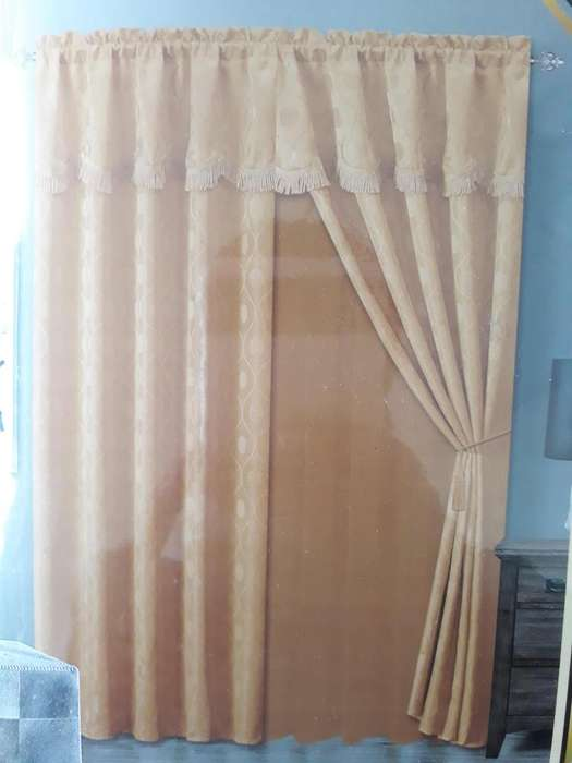 Cortinas de dos paneles con velo. Pasión Guajira