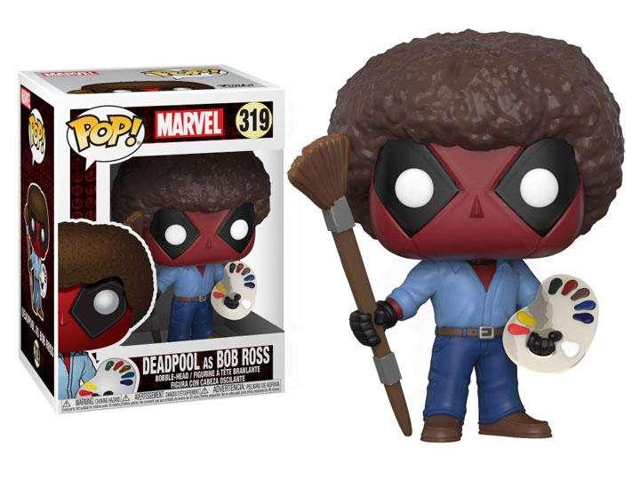 Figura Funko Pop Movies Marvel Deadpool As Bob Ross
