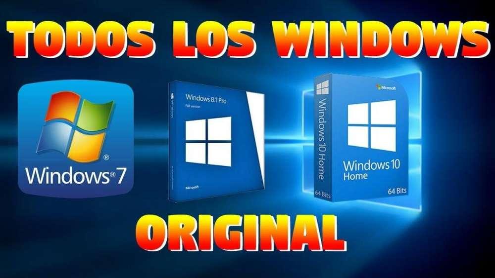 WINDOWS ORIOGINALES FORMATEO DE COMPUTADORES Y PORTATILES