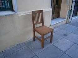 silla de madera 1 sola unidad