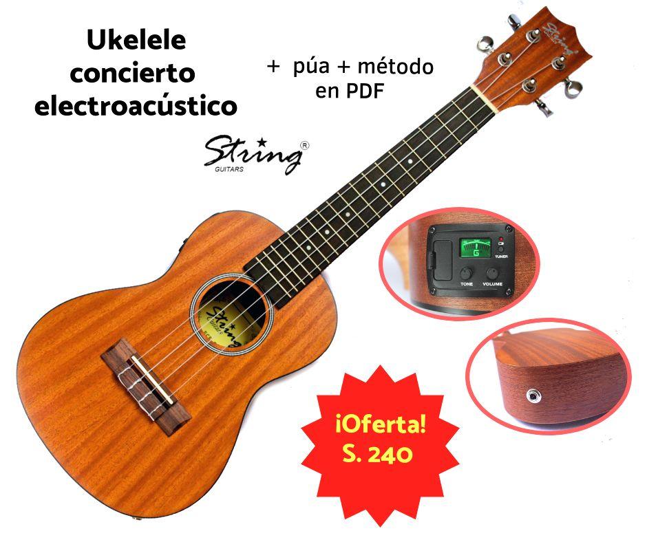 Ukelele Concierto Electroacústico Importado Superoferta!!!