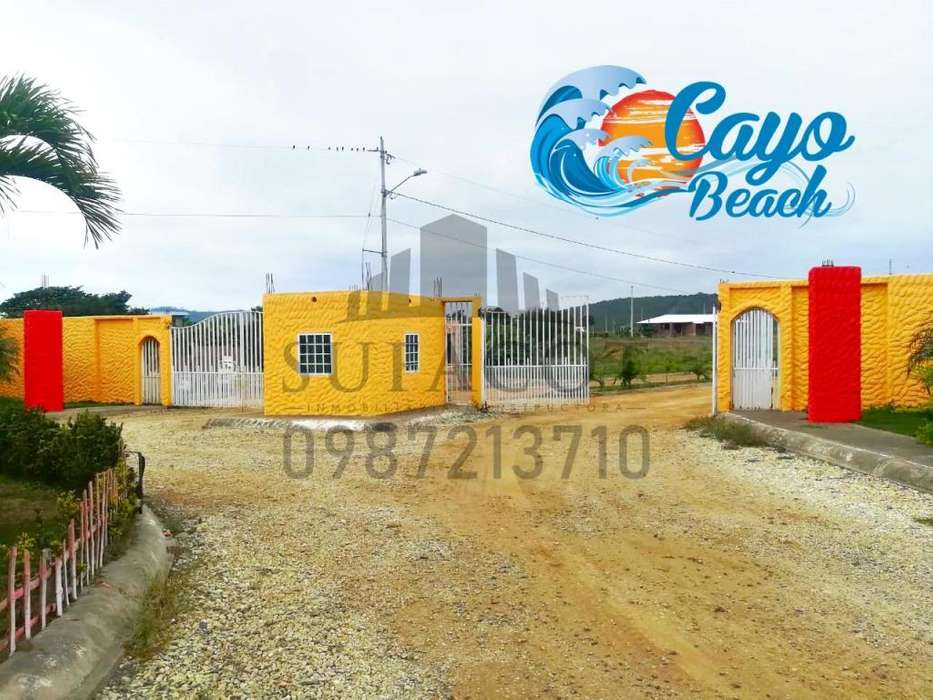 Venta de Lotes Playeros, Solo de Contado, Lotización Cayo Beach en Puerto Cayo cerca de Puerto Lopez y Los Frailes,SD1
