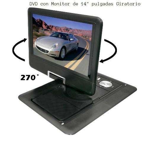 DVD Portatil-(vid-juegos)Pantalla de 14 Pulgadas ( Transferible video a otros <strong>televisor</strong>es d pantalla mas amplias)