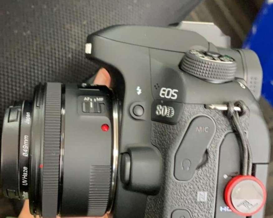 Perfecta Canon Eos 80d con Objetivo