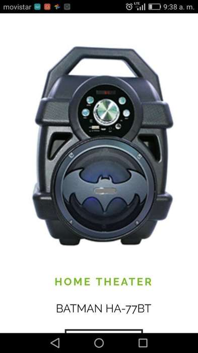 Halion Batman Usb Bluetooth Microfono