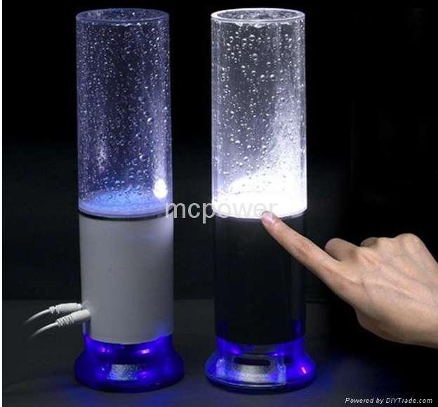 parlante lampara tactil led