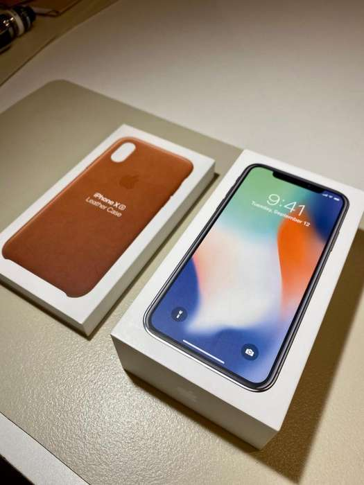 iPhone X 256 Gb - Silver - Excelente Estado - Accesorios