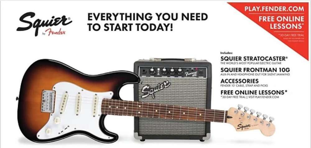 Squier Mini Electric Guitar - Strackpack