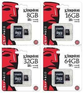 Tarjeta Micro Sd 8 b 2 En 1 Adaptador Sd Clase 10 Kingston