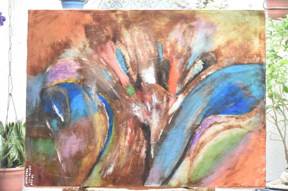 Cuadro Abstracto en Acrílico sobre Lienzo