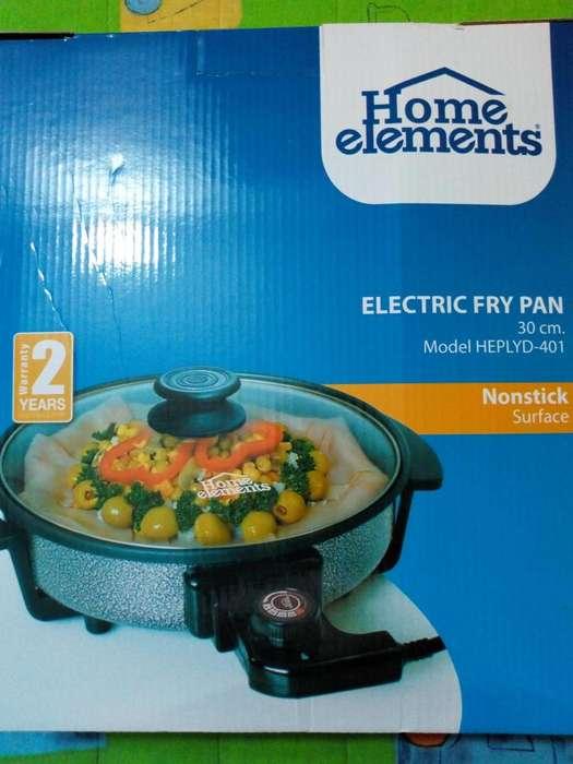 Sarten Electrico Wok Antiadherente NUEVO Home Elements MODELO Heplyd 401