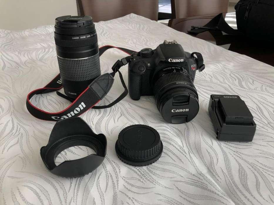Canon t5, lentes 18-55/75-300 en perfecto estado