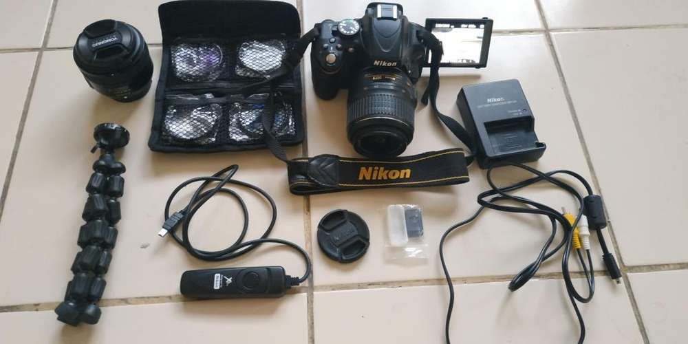 Nikon D5100 Cámara réflex <strong>digital</strong> CMOS de 16,2 megapíxeles