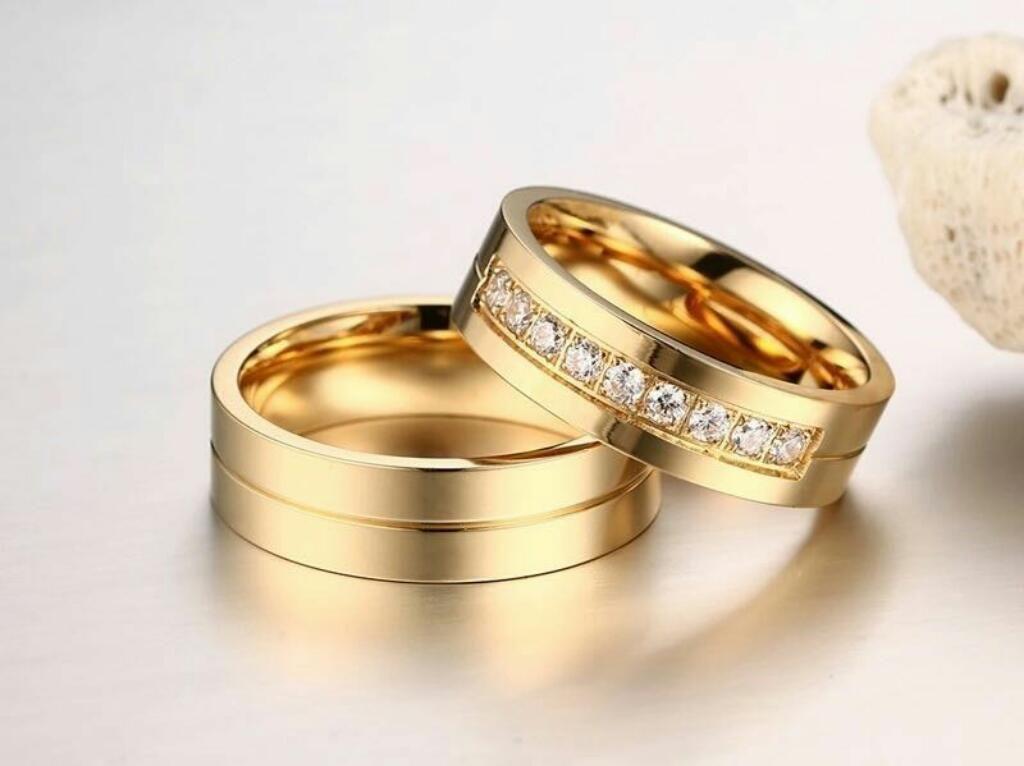 674d9f6beb1a Aros de Matrimonio Oro 18k Y Plata 925 Boda Anillos Aniversario Ps4 San  Valentin Amor S6