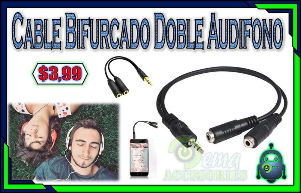 Cable Bifurcado Doble Audio