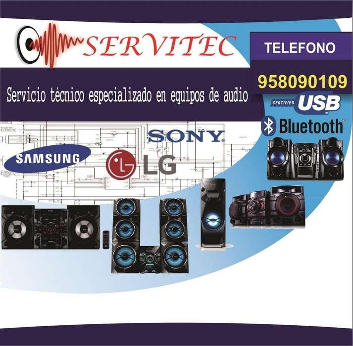 Reparación Servicio técnico equipos audio sonido