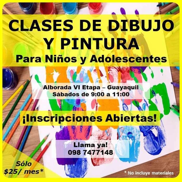 Taller permanente de Dibujo y <strong>pintura</strong> para niños y adolescentesen Guayaquil