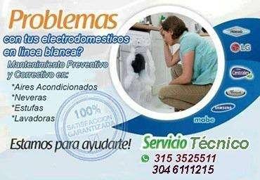 Servicio Tecnico: Lavadoras, Neveras, Estufas y Aires Acondicionados