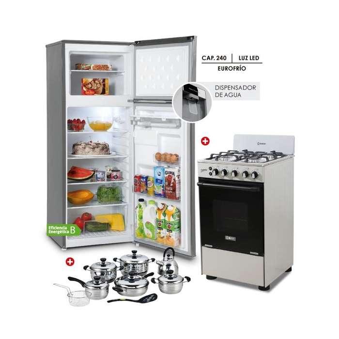 Miray Refrigeradora Cocina A Gas Fresno Microondas