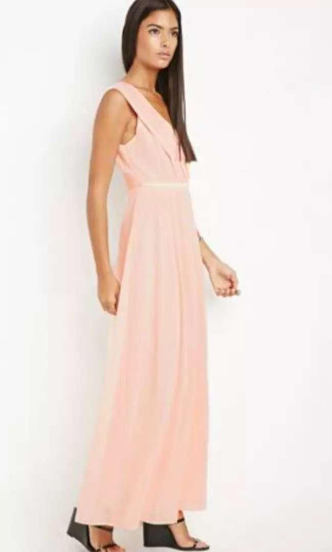 Vestido Maxi Forever 21 Talla S Color Palo De Rosa Ropa