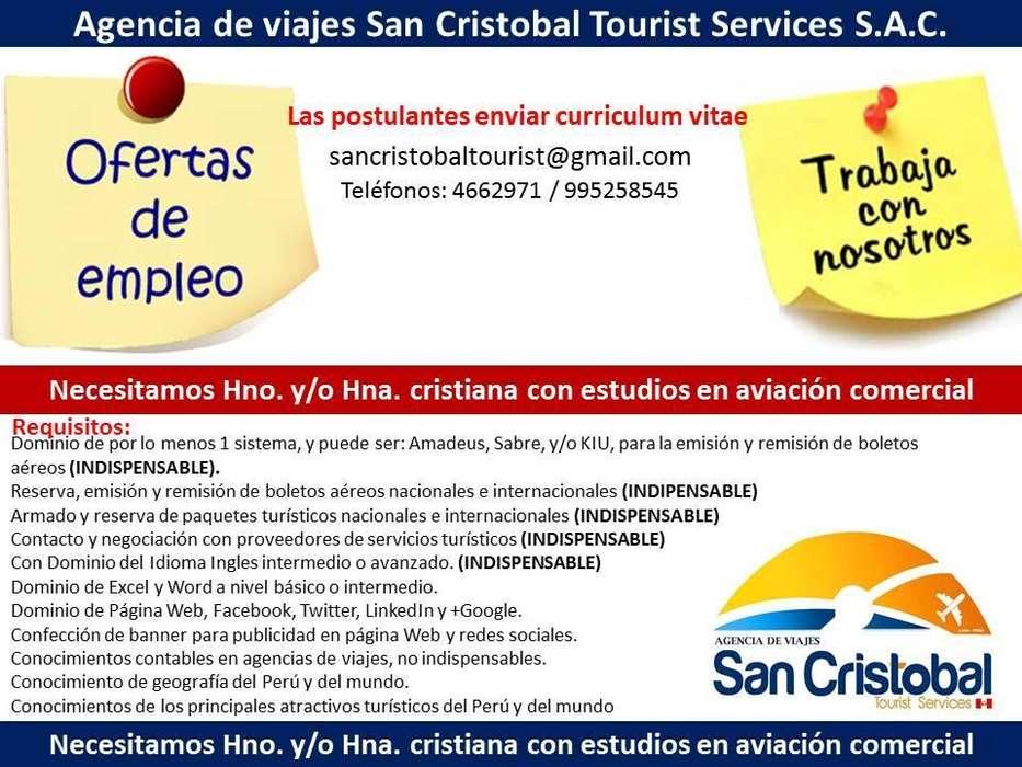 Experta en venta de tickets aéreos y paquetes turisticos
