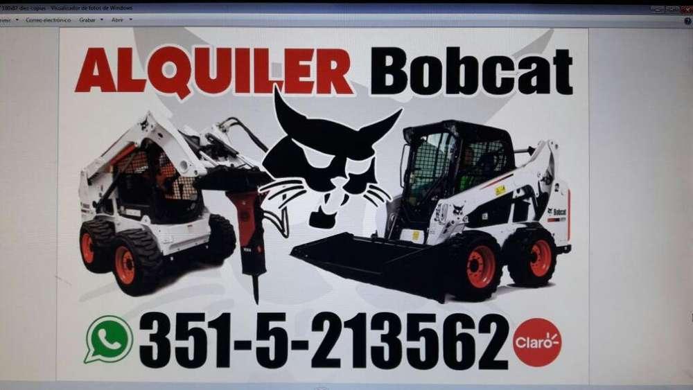 Alquiler Minicargadora Bobcat