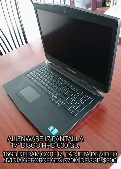 Gaming Laptop Alienware 17 16Gb RAM Usada buen estado