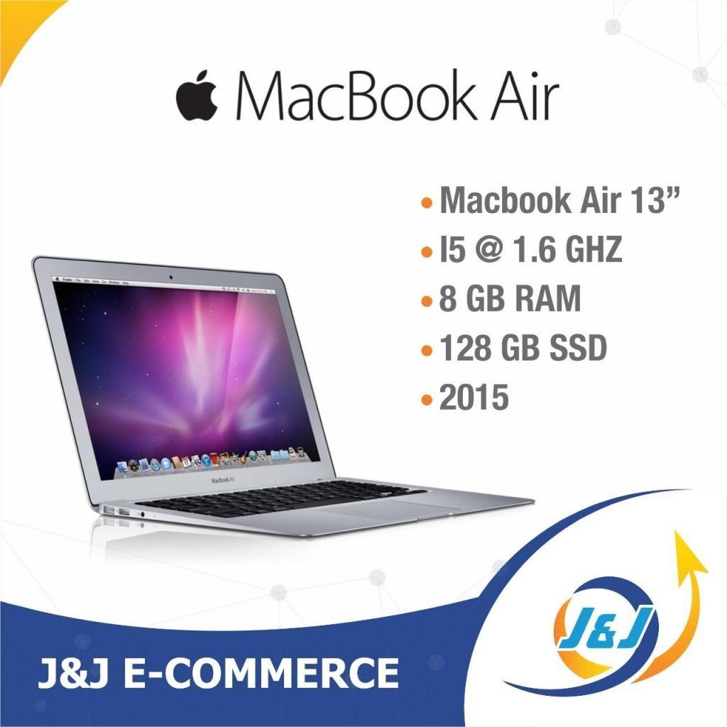 """*** MacBook Air 13"""" 2015 i5 @1.6 Ghz 8GB RAM 128 GB SSD 25 ciclos  ***"""