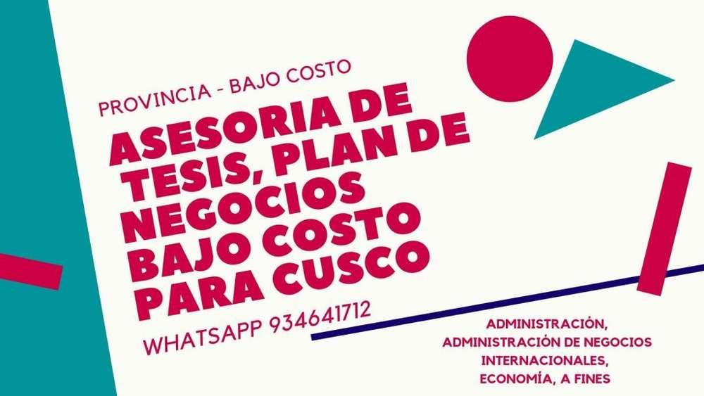 Asesoría de Tesis, proyectos de negocios en PROVINCIA CUSCO