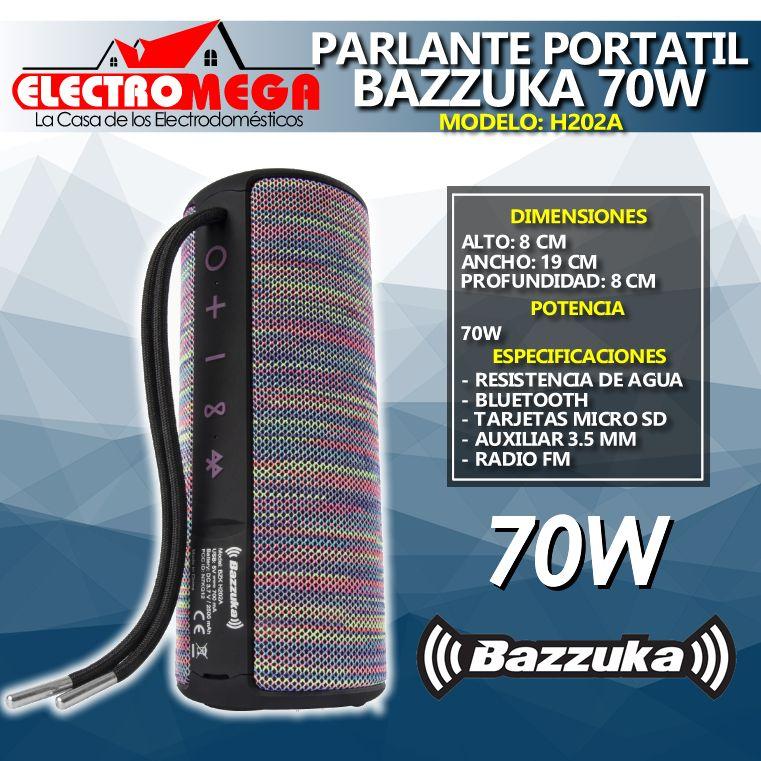Nuevo Parlante Portatil Bazzuka 70w A Prueba De Agua H202a