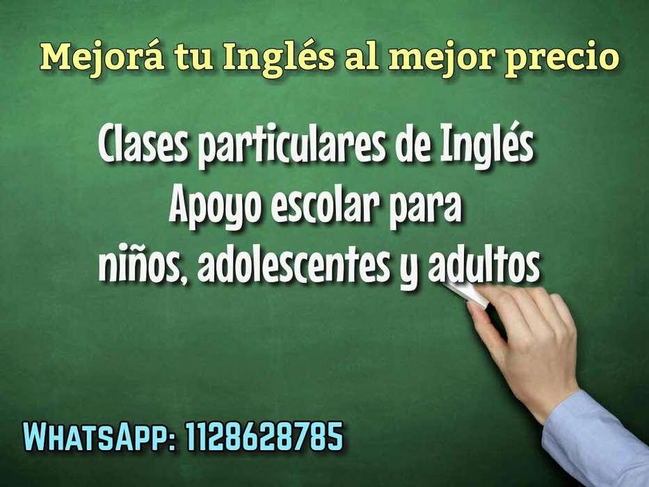 Clases particulares/Apoyo escolar de Inglés a domicilio