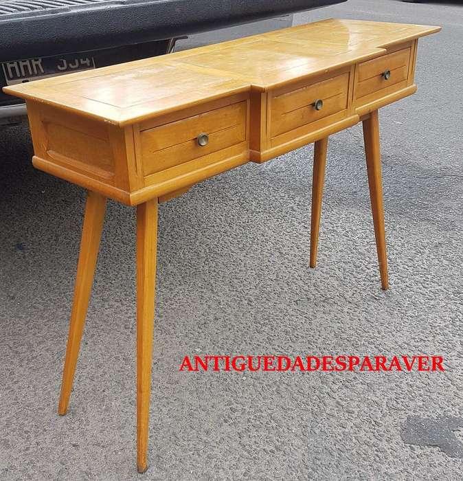 Consola dresuar mini escritorio diseño retro vintage <strong>escandinavo</strong> 60s