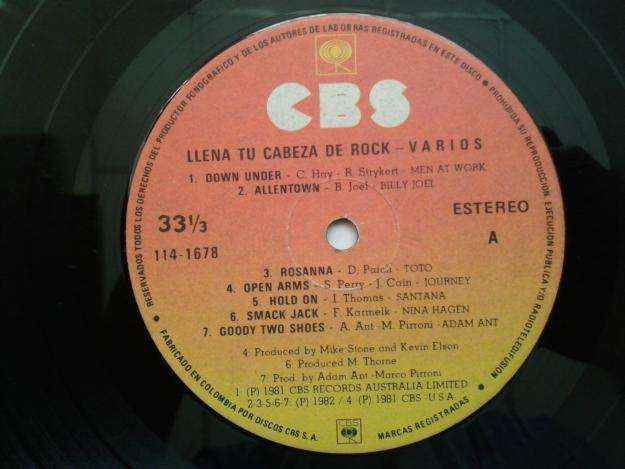 LP Llena Tu Cabeza De Rock Vol. I en Inglés. Varios