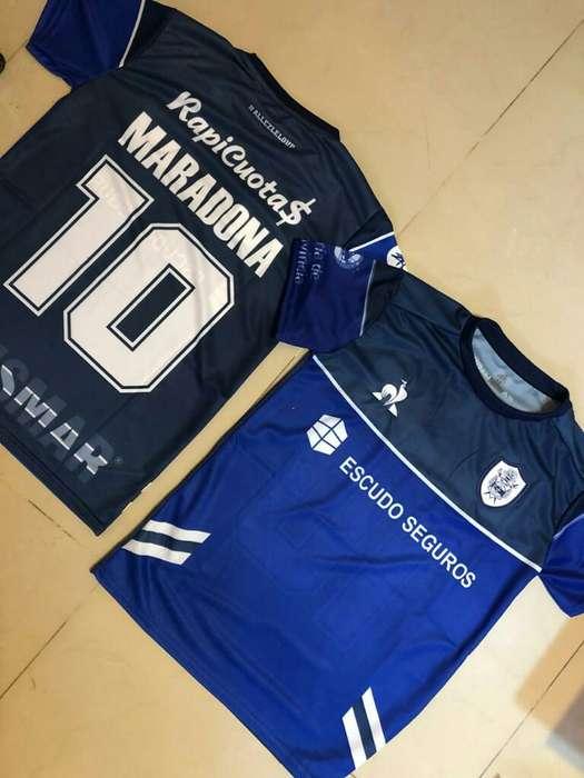 Camiseta Gimnasia Maradona Niños Y Adult