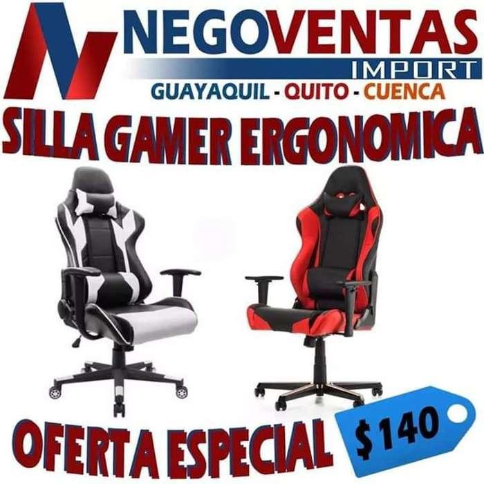 SILLA GAMER ERGONÓMICA RECLINABLE TIPO OFICINA PRECIO OFERTA 140