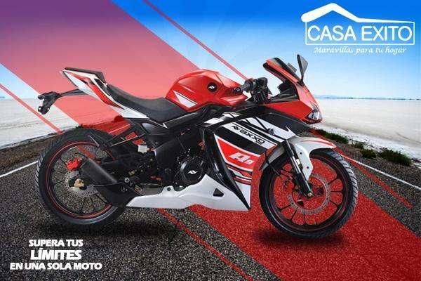 Moto Axxo R9 250cc Año 2019 250cc Ro/bl/az Barras Invertidas Casa Éxito