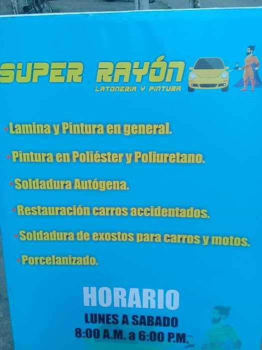 Super Rayon. Lamina Y Pintura Automotriz