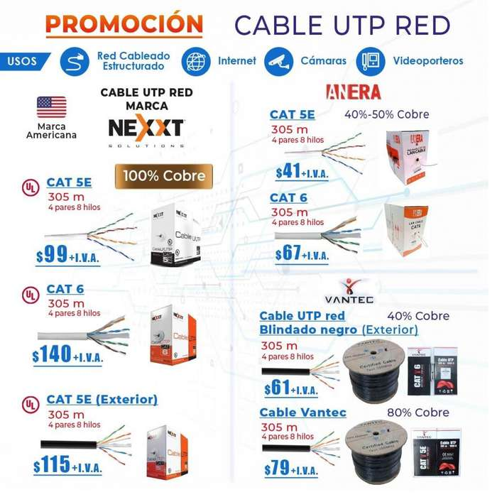<strong>cable</strong> utp /ftp/categoria 5.categoria 6 <strong>cable</strong> incendio/ vantec/Anera/next/<strong>cable</strong> de red