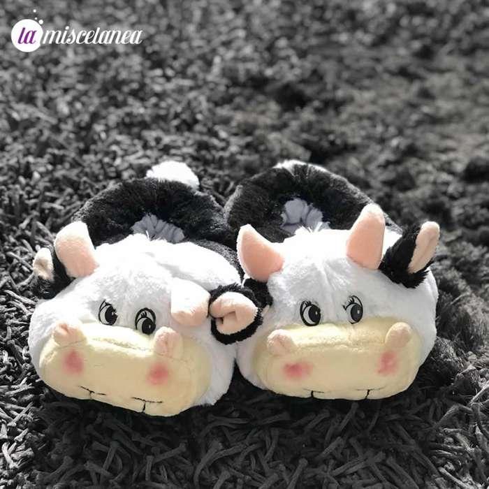 Pantuflas de vaquita