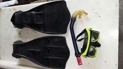 Aletas, Snorkel  Mascara de Buceo